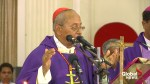 Colombo archbishop holds mass for victims of bomb attacks